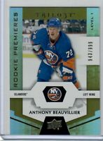 2016-17 TRILOGY LEVEL 1 ANTHONY BEAUVILLIER RC 943 OF 999