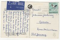 1968 Apr 10th. Air Mail. Picture Postcard. Cairns to Opladen, West Germany.