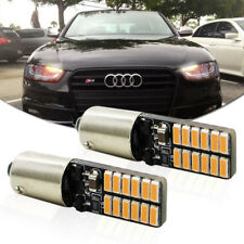 2pcs CAN-bus Amber Yellow Bay9s H21W 64136 LED Bulbs For Daytime Running Lights
