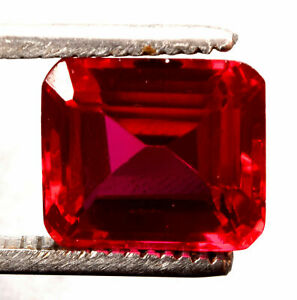 9.45 Cts  Natural Mozambique Red Ruby Square Shape Certified Gemstone