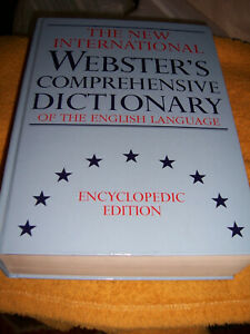 The NEW International WEBSTER´S COMPREHENSIVE DICTONARY of the english Language