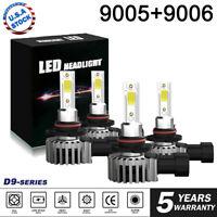 4x 9005+9006 240W 48000LM Combo LED Headlight High/Low Beam 6000K Bulbs Kit
