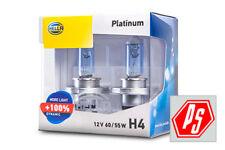 Hella H4 Globe Platinum White +100% Light 60/55w Upgraded Halogen