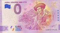 BILLET 0  EURO JURAJ JANOSIK  ANNIVERSARY  SLOVAQUIE  2020 NUMERO DIVERS