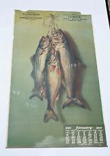 1907 AUGUST LAUX CALENDAR - D.H. BITTINGER SAWMILL - FISH - VERY RARE CALENDAR
