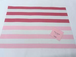 "Kate Spade Springtime Pink Stripes Placemat 13"" x 19"""
