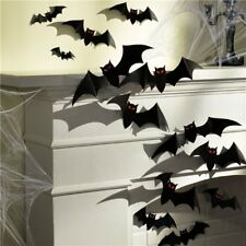 Halloween Party Black 3D Paper Bats Cutouts Wall Cementry Decoration 30 Pack