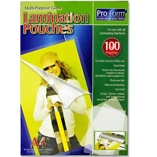 100 X A4 Laminating Gloss Pouches School Office Photocopy Safe Docs Lamination