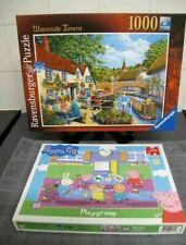 Ravensburger 1000 piece jigsaw puzzle 'Waterside Tavern' + Jumbo Peppa Pig