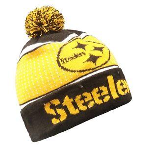 Pittsburgh Steelers Big Logo Light Up Beanie Winter Hat Toque Cuffed Pom 18 Knit