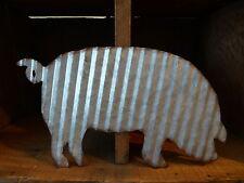 Corrugated Metal ~ PIG ~ Industrial Farmhouse Barnyard Primitive WALL SIGN