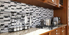 HUE Home Decor Bathroom Kitchen 3D Gray Peel&Stick Backsplash Stickers 5/Sheets