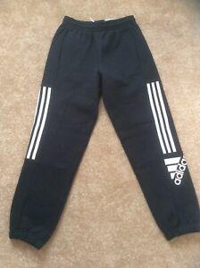 Adidas Boy's Black Joggers Aged 11-12 New