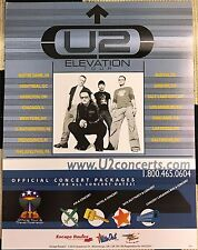 Very Rare U2 Elevation Tour 2001 Small Ets Tour Poster