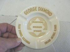 ceramic ashtray george diamond steaks chicago antioch palm springs california