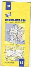 CARTE TOURISTIQUE MICHELIN N° 80 . RODEZ -  NIMES