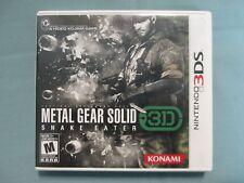 Metal Gear Solid 3D: Snake Eater (Nintendo 3DS, 2012) Complete Tested