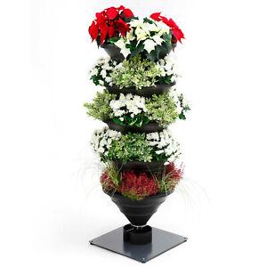 Vertical Garden XL schiefergrau: Urban Gardening Innovation Hochbeet/Pflanzturm
