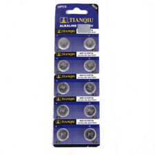10Pcs 1.5V AG13 Battery LR44 L1154 A76  Alkaline Button Coin Cells Batteries