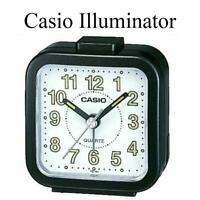 Casio Black Quartz Travel Beep Alarm Clock Analogue Illuminator Model no.TQ141-1