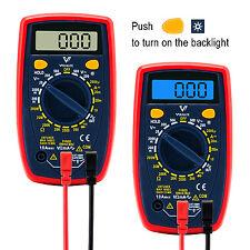 Digital Multimeter AC DC Voltmeter Ammeter Ohmmeter Volt Tester Meter LCD Light