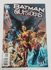BATMAN and the OUTSIDERS #1 DC COMICS 2007SIGNED by CHUCK DIXON BANE NIGHTWING