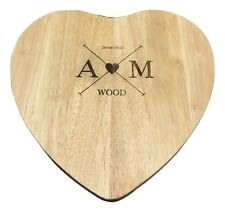PERSONALISED Engraved Wooden Heart Cheeseboard / Chopping Cutting Serving Board