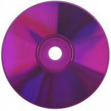 100-Pak Spin-X =Silver/PURPLE= 48X 80-Min CDR's, PURPLE Colored Record Surface