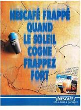 PUBLICITE ADVERTISING   1989    NESCAFE  café frappé