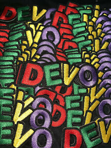 Devo Patch - whip it new wave 80's music band rock pop yellow hat synth color