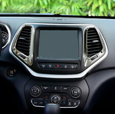 Front Centre Air Vent Chrome Garnish Surround Cover for Jeep Cherokee KL 14-18