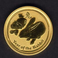 Australia. 2011 1/10th oz - gold 15 Dollars. Rabbit  .999 gold, 18.6mm. BU