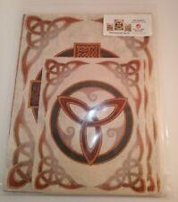 New ListingCeltic Symbol Art Prints Set, Handmade Paper, Spiral of Life, Cross,Trinity Knot