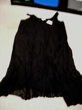 NWTS CATO WOMAN PLEATED SHARKBITE DRESS PLUS BLACK SLEEVELESS SIZE 22/24W