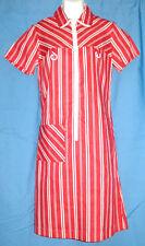 VINTAGE 50s 60s RED STRIPED mod DRESS candy stripe DEADSTOCK nwot GOGO