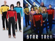 Star Trek  TNG Jumpsuit Uniform Costume Yellow/Blue/Red
