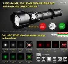 Klarus Taschenlampe FH10 Zomm Jagd mit WEISS, ROT und GRÜNEN 3 LED´s + Halterung