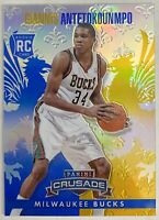 GIANNIS ANTETOKOUNMPO 2013-14 Panini Crusade Blue Rookie RC #61 MVP Bucks