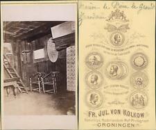 Pays-Bas, Zaandam, maison du tsar Pierre le Grand  Vintage CDV albumen carte de