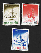 Opc 1972 Norway Polar Exploration Ships Set Sc#596-8 Mint Never Hinged 17487