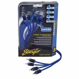 Stinger SI6420 20 Ft. 6000 4-Channel Shielded Directional Twisted RCA