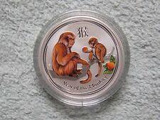 2016 Australian Silver Lunar Series II Colorized Monkey 1/2 oz (from roll)