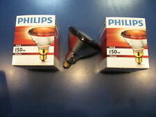 2X Philips PAR38 IR Red 150W 230V E27 Lampada a Infrarossi calda Faretto