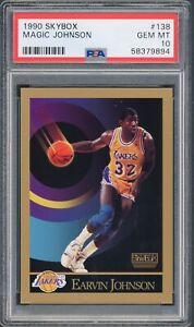 1990 Skybox MAGIC JOHNSON Los Angeles Lakers card #138 PSA 10 GEM MINT