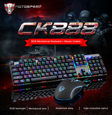 Motospeed CK888 Mechanical Gaming Keyboard And USB Optical Mouse Combo Bundle PC