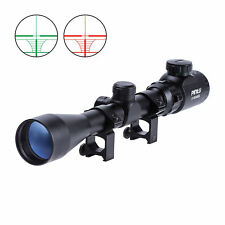 3-9X40 Air Rifle Gun Hunting Scope Telescopic Sight Shooting with Mount RedGreen