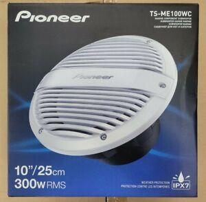 "Pioneer TS-ME100WC ME-Series 10"" 900 Watt White Marine Subwoofer  NEW"