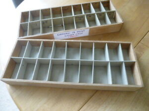 SMALL PRINTERS TRAY X 2 18 SECTIONS
