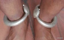 vintage antique collectible tribal old silver Anklet Feet Bracelet Bangle pair