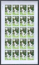 St. Vincent Cricket ceniza iobal raivi Imperf Color Hoja de prueba de los números de los 320